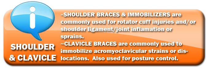 Shoulder Braces | Clavicle Braces | Shoulder Immobilizers