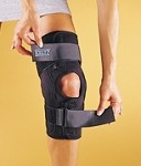 NoSwet® Knapp™ Hinged Knee Orthosis - Anterior Closure