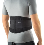 iGO Adjustable Lumbar Back Support Brace, Black, 1-Count Package