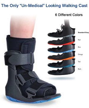 Ovation Short Walking Cast Boot (Choice of Color)